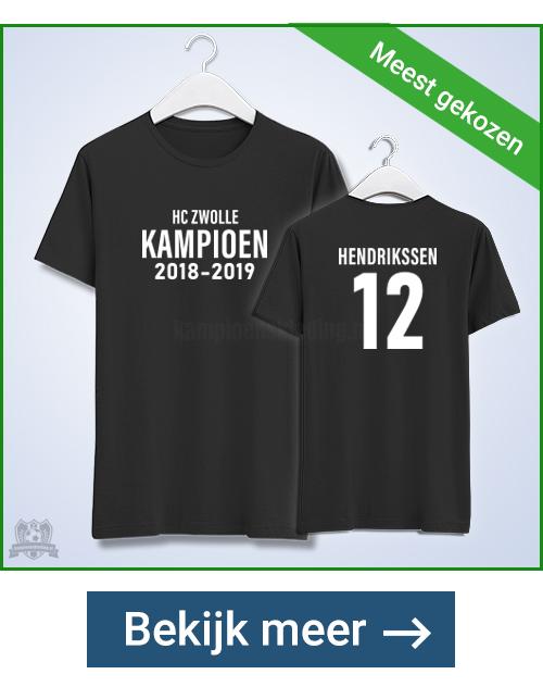Kampioensshirts aan twee zijden bedrukt | kampioenskleding.nl