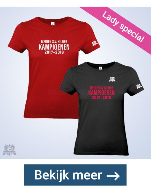 Kampioensshirts Lady getailleerd, snel geleverd | kampioenskleding.nl