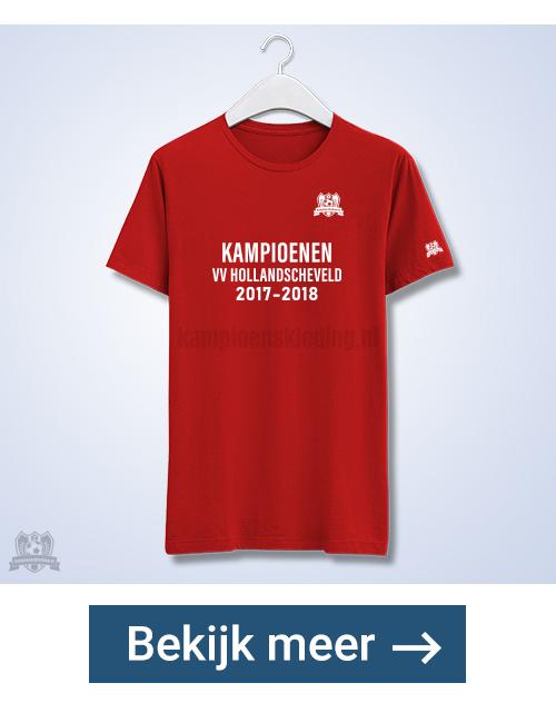 Kampioensshirts een zijde bedrukt + logo | Geleverd binnen 5 dagen