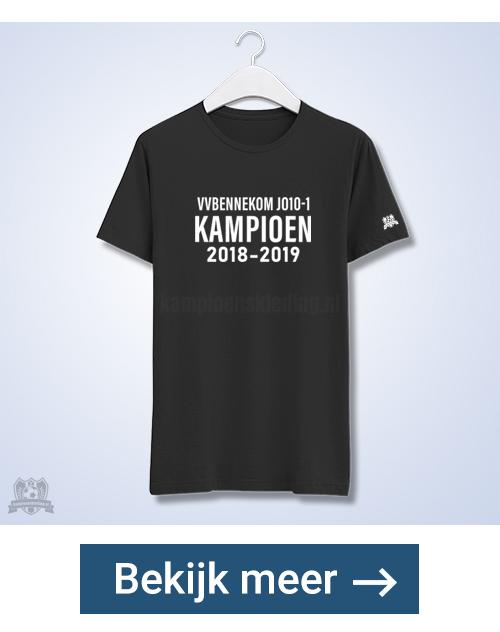 Kampioensshirt aan een zijde bedrukt | kampioenskleding.nl
